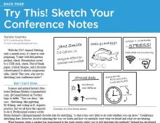 """Interviewed for the American Fisheries Society """"Fisheries"""" magazine regarding drawing science notes"""