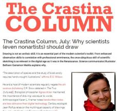 "Op-ed about why scientists should draw, published in ""Crastina"""