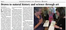 Newspaper coverage of an art-science integration/observational drawing workshop