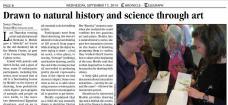 Newspaper coverage of an art-science integration/observational drawing workshop
