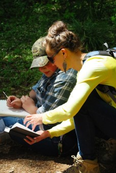 Teaching a nature sketching workshop, hosted by the Glacier Institute