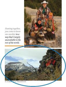 "Photograph published in ""Montana Outdoors"" magazine"