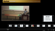 Screenshot of video from invited seminar talk given to University of Wyoming Department of Zoology & Physiology